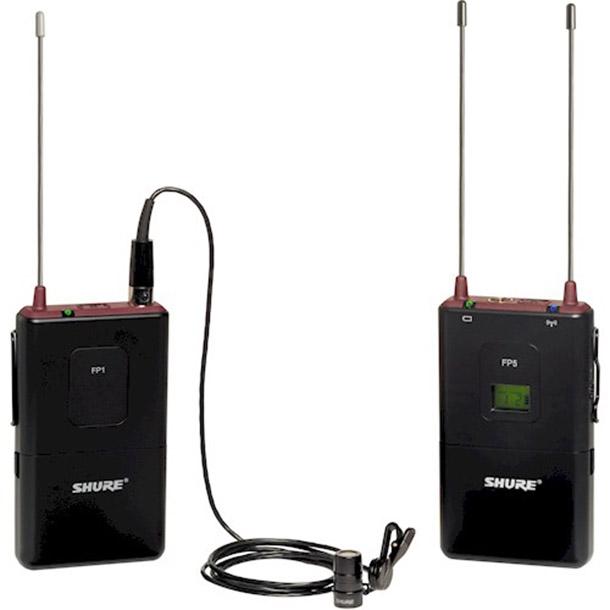Rent a Shure FP5 en FP1, draadloze zender/ontvanger met lavalier microfoon Shure-93. in Ubbergen from Flip