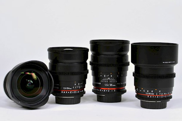 Rent Samyang cine set EF mount from David