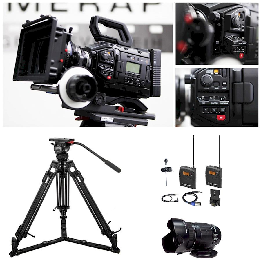 Rent a Blackmagic Ursa Mini Pro 4.6K + lens + wireless mic + statief (run and shoot!) in Bunnik from Niels