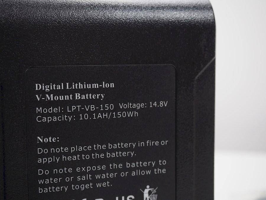 Rent a LPT V mount batterij (VB-150)