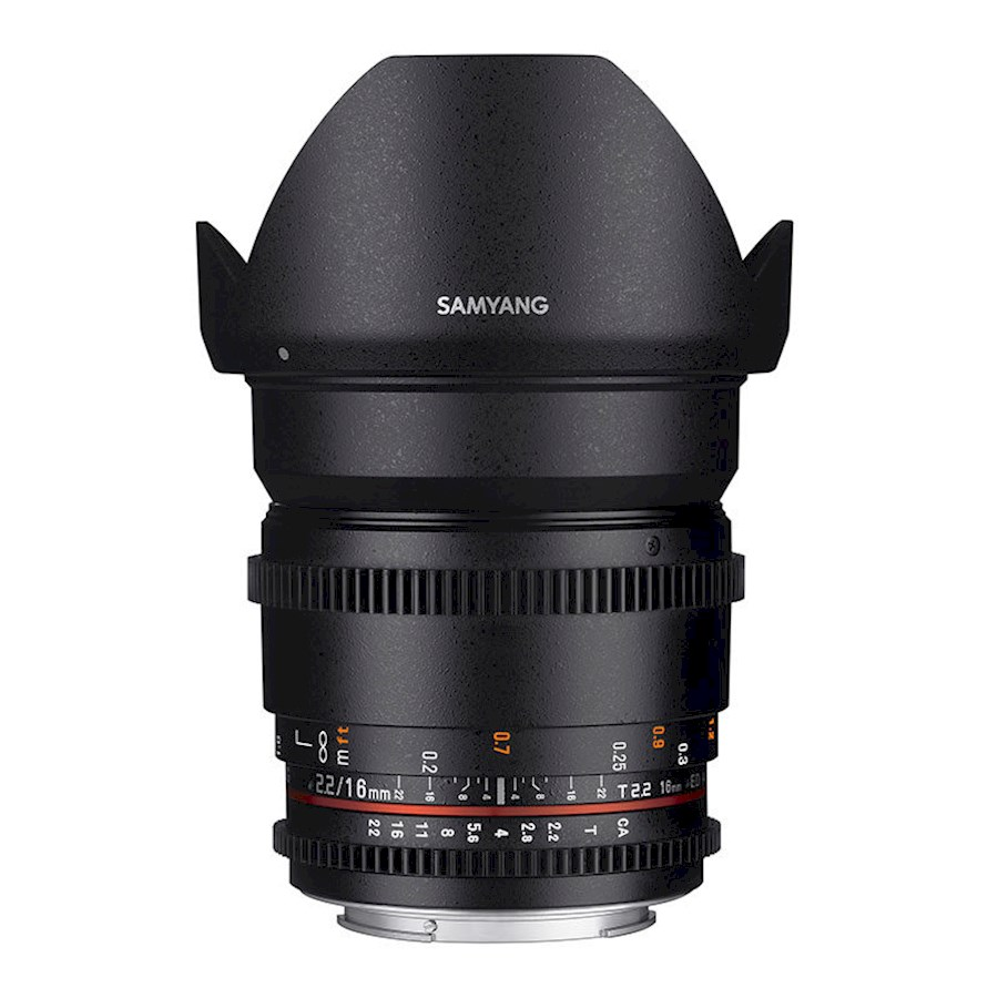 Rent a Samyang 16mm T2.2 ED AS UMC CS  VDSLR (Nikon F, Canon EF of Sony E) in Eindhoven from EXVERSA