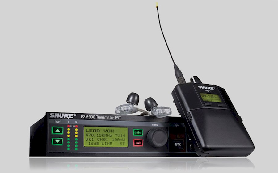 Rent a SHURE PSM900 In Ear Monitor Systeem  (Zender + ontvanger)