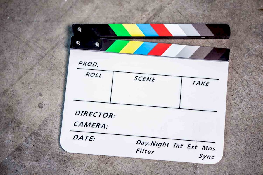 Rent a Movie slate / Klapbord in Amsterdam from RISKE DE VRIES