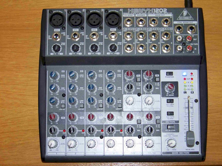 Rent Behringer Xenyx 1202 from JB SOUND & VISION