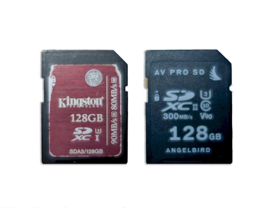 Huur 2X 128 GB SD kaarten (... van EDUFILM