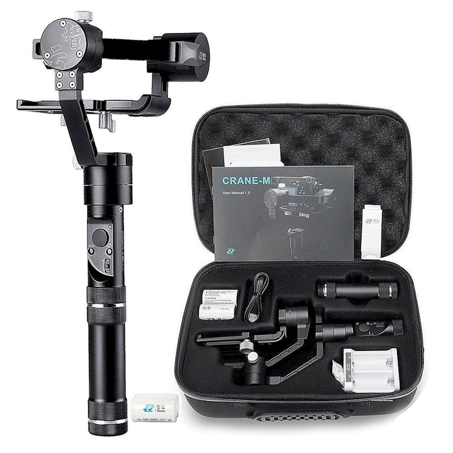 Huur een ZHIYUN CRANE-M | 3-AXIS GIMBAL FOR SMARTPHONES, ACTION CAMERAS, & MIRRORLESS CAMERAS in Duffel van NV DUFFELCOAT PRODUCTIONS