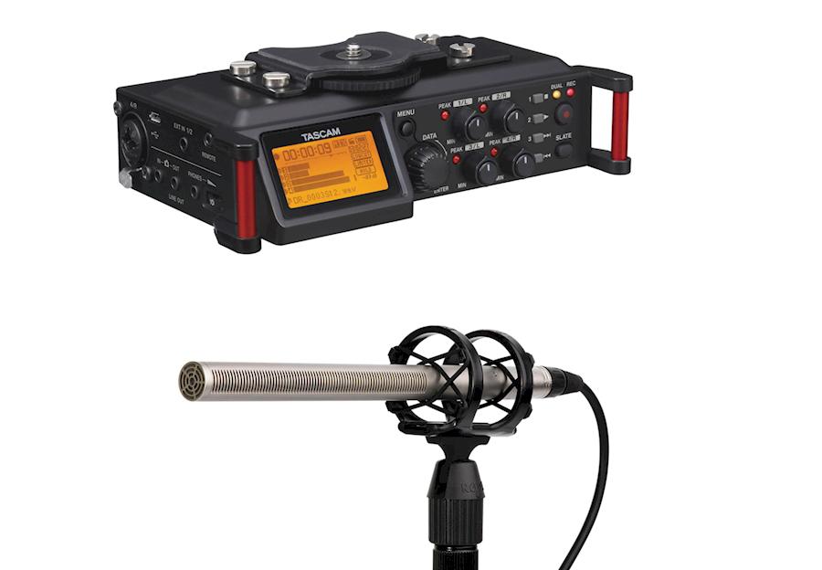 Rent a Audio pakket: Tascam DR-70D + Røde NTG-3 + accessoires in Tessenderlo from Gertjan