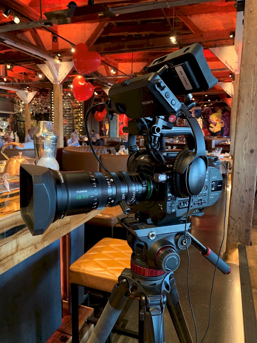 Rent a FS7 II COMPLEET | FUJINON 18-55 | EASYRIG in Rotterdam from PIXELX B.V.