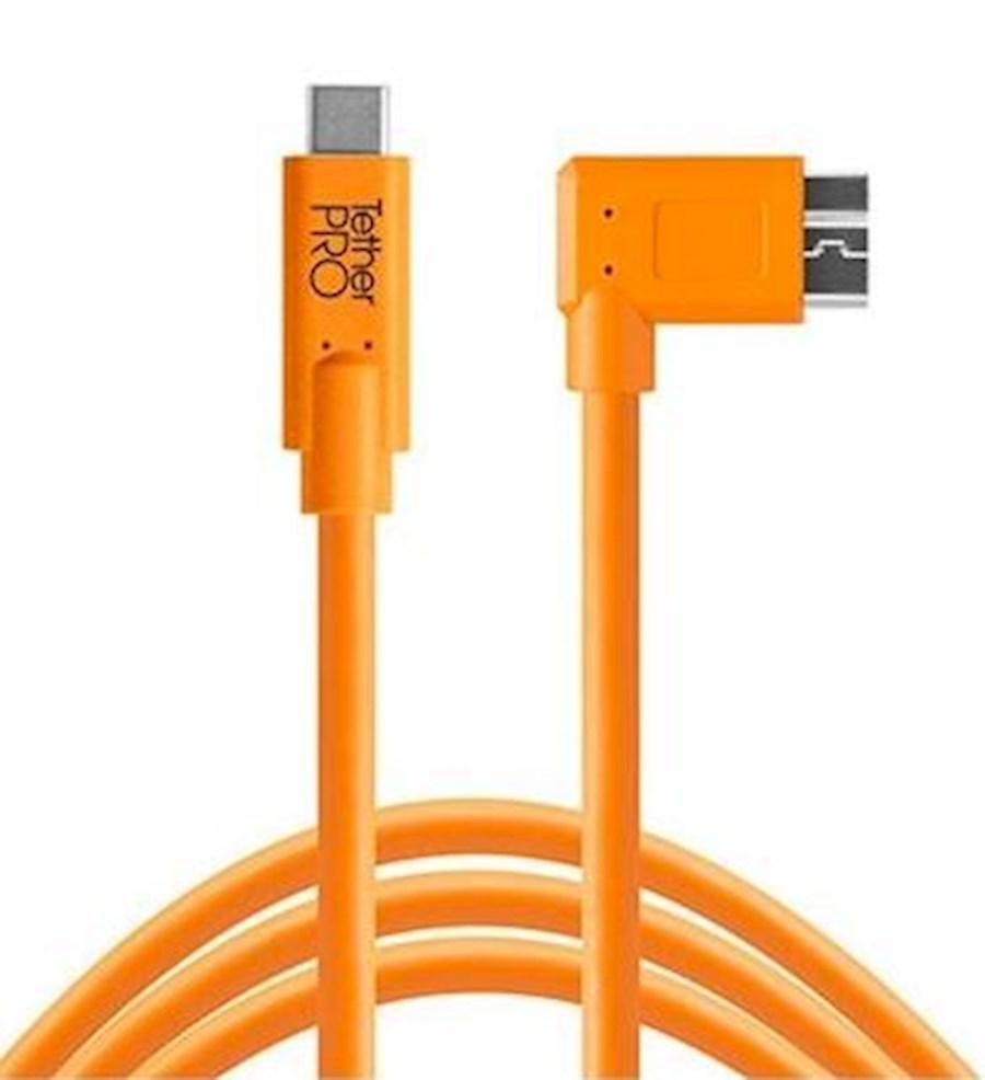 Huur een TETHER TOOLS TETHERPRO USB-C TO 3.0 MICRO-B RIGHT ANGLE 3 M ORANJE in Beringen van Mangelschots, Steven