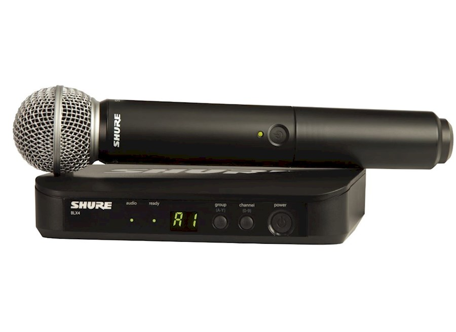 Rent a Shure BLX 24 draadloze microfoon SM58 of Beta 58A in Spaubeek from Leon