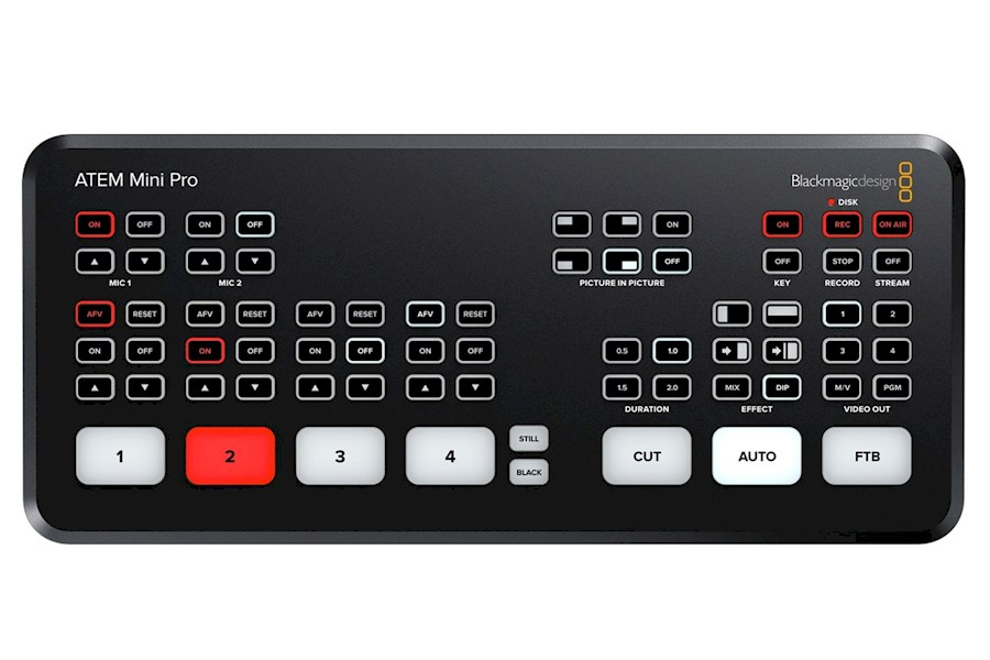 Rent Blackmagic Atem Mini Pro from VAN DER LELY FREELANCE DIENSTEN