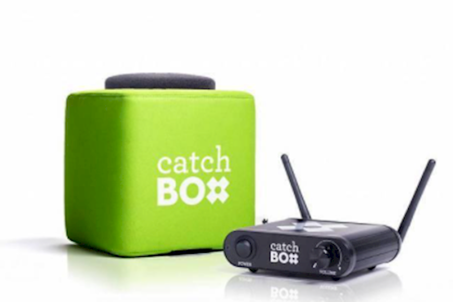 Rent a Catchbox dobbelsteen microfoon in Haarlem from Asing