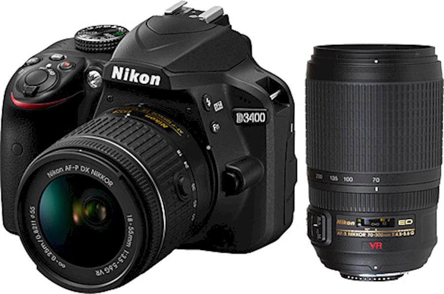 Huur Nikon d3400 + 18-55 mm... van Martin